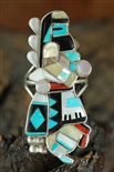 ZUNI INLAID LONGHAIR DANCER RING