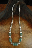 BEAUTIFUL HALOO SNAKE EYE ZUNI NECKLACE
