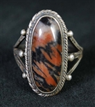 BEAUTIFUL VINTAGE PETRIFIED WOOD RING
