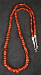 LOVELY KEWA MEDITERRANEAN CORAL NECKLACE