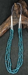 BEAUTIFUL PUEBLO TURQUOISE NUGGET & SHELL NECKLACE