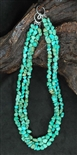 LOVELY NATURAL LONE MOUNTAIN TURQUOISE NECKLACE