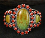 KIRK SMITH TURQUOISE AND CORAL BRACELET
