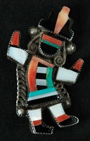 BEAUTIFUL ZUNI RAINBOWMAN PIN