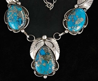 HERBERT TAYLOR MORENCI TURQUOISE LINK NECKLACE SET