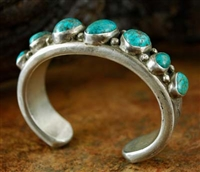 MARK CHEE LONE MOUNTAIN TURQUOISE BRACELET