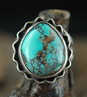 BEAUTIFUL HIGH DOME #8 TURQUOISE RING
