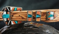 1940'S ZUNI INLAID RANGER BUCKLE