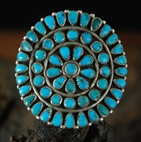 UNIQUE C.G. WALLACE ZUNI CLUSTER RING