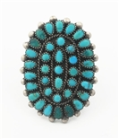 1950's ZUNI CLUSTER RING