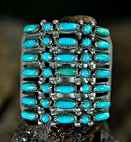LOVELY DOT-DASH ZUNI TURQUOISE RING