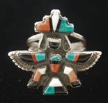 BEAUTIFUL ZUNI KNIFEWING RING