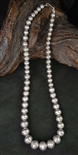 NAVAJO HAND MADE SILVER PEARL BEAD NECKLACE