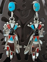 BEAUTIFUL VERA LUNA ZUNI INLAID EARRINGS