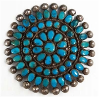 BEAUTIFUL MORENCI TURQUOISE MANTA PIN