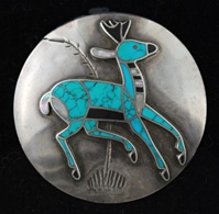 HISTORIC DEAN KIRK DESIGNED #8 TURQUOISE PIN