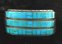 BEAUTIFUL CHANNEL INLAID TURQUOISE BRACELET