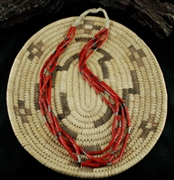 BEAUTIFUL 4 STRAND MEDITERRANEAN CORAL NECKLACE