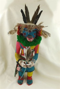 This Antelope Kachina was carved and signed by world renowned Hopi carver Jimmy Kewanwytewa.