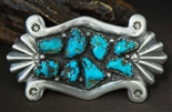 HORACE IULE TURQUOISE CAST BELT BUCKLE