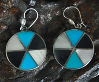 LOVELY ZUNI CHANNEL INLAY EARRINGS