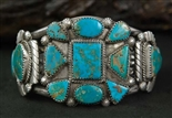 BEAUTIFUL BLUE GEM TURQUOISE BRACELET