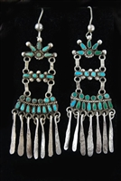 LOVELY 1930's ZUNI DANGLE EARRINGS