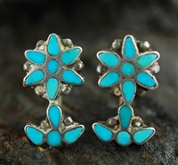 FRANK DISHTA SR. TURQUOISE SCREW BACK EARRINGS