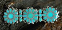 FRANK DISHTA SR. TURQUOISE FLOWER PIN