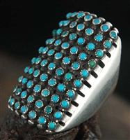 BEAUTIFUL WINNIE JAMON ZUNI SNAKE EYE RING