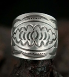 GREAT VINTAGE INGOT STAMPED RING
