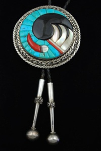 Lee and Mary Weebothee Inlaid Bolo Tie