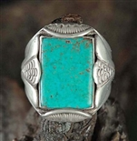 BEAUTIFUL FRED THOMPSON MORENCI TURQUOISE RING