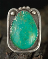 BEAUTIFUL FRED THOMPSON CHRYSOCOLLA RING