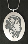 GARY AND ELSIE YOYOKIE NAVAJO WOMAN PENDANT