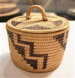 SMALL PAPAGO BASKET WITH LID