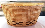 VERY LARGE PAPAGO BASKET WITH HANDLES