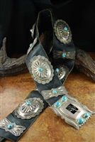 AMAZING LARGE NAVAJO 1940'S CONCHO BELT