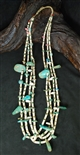 VINTAGE KEWA NATURAL BLUE GEM TAB NECKLACE