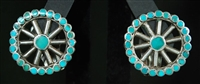 FRANK DISHTA SR. TURQUOISE EARRINGS