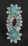 FRANK DISHTA SR. TURQUOISE DANGLE RING