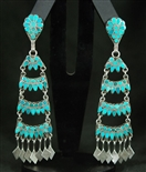 DISHTA FAMILY TURQUOISE DANGLE EARRINGS