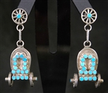 VINCENT JR AND MARVINA DISHTA TURQUOISE EARRINGS