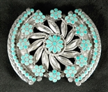 VINCENT JR AND MARVINA DISHTA TURQUOISE BUCKLE