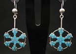 FRANK DISHTA SR. TURQUOISE DANGLE EARRINGS