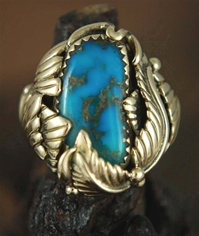"MORENCI TURQUOISE 14K GOLD RING  <SPAN style=""COLOR: #ff0000; FONT-WEIGHT: bold"">*SOLD*</SPAN></SPAN>"