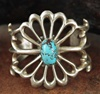 TRADITIONAL SANDCAST BRACELET WITH PERSIAN TURQUOISE