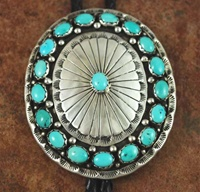 "NATURAL SLEEPING BEAUTY TURQUOISE BOLO TIE<SPAN style=""COLOR: #ff0000; FONT-WEIGHT: bold"">*SOLD*</SPAN></SPAN>"