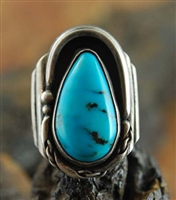BEAUTIFUL BLUE DIAMOND TURQUOISE RING