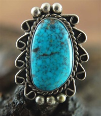YVONNE SHIRLEY VINTAGE MORENCI TURQUOISE RING